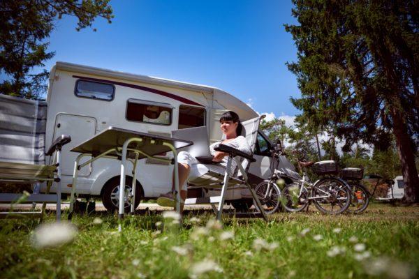 smart-working in camper